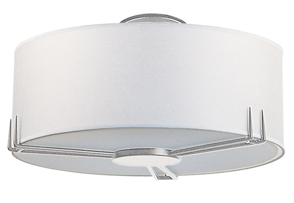 DVI Lighting DVP9112 Two Light Semi Flush Mount from the Geometry Sale $172.20 ITEM: bci1371991 ID#:DVP9112BN UPC: 61467913586 :