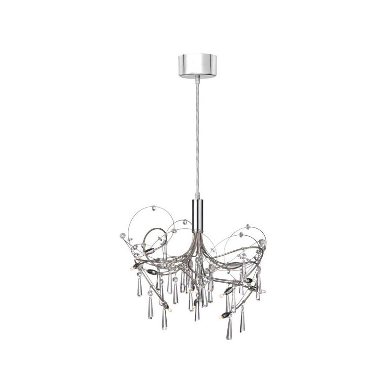 Dainolite 1851-18-PC 10 Light Chandelier Polished Chrome / Satin