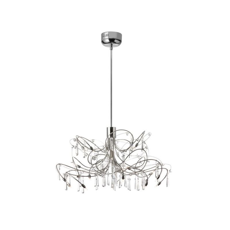 Dainolite 1851-24-PC 20 Light Chandelier Polished Chrome / Satin