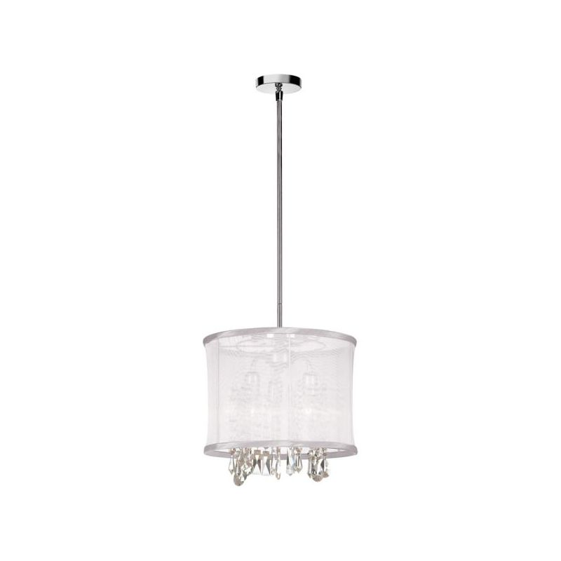 Dainolite 85312-PC-119 Bohemian 3 Light Chandelier Polished Chrome
