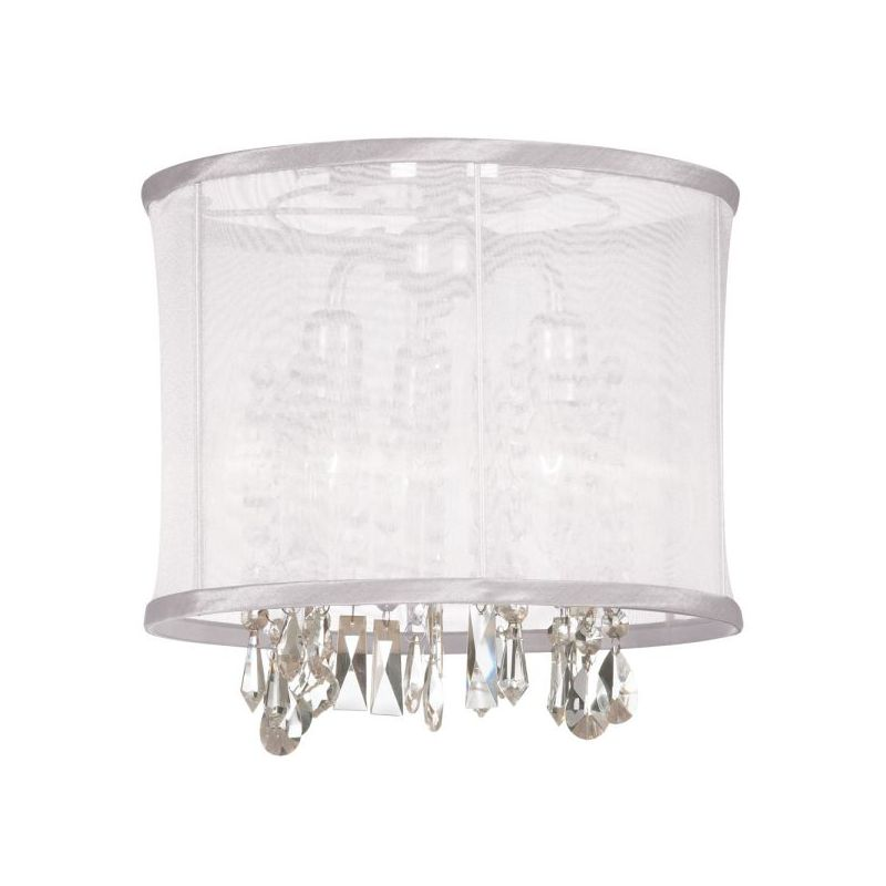 Dainolite 85312SF-PC-119 Bohemian 3 Light Semi-Flush Ceiling Fixture