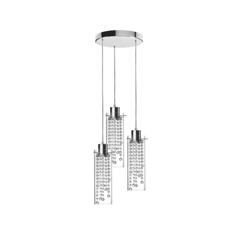 Dainolite 90623-12R-PC Cynthia 3 Light Pendant Polished Chrome Indoor