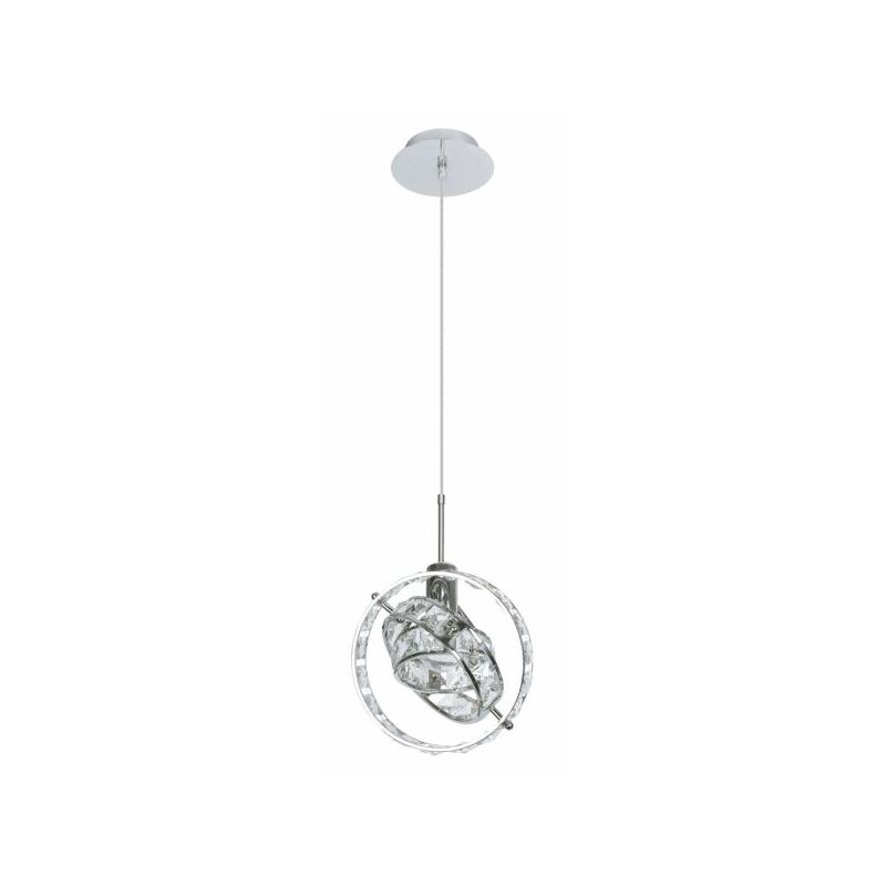 Dainolite CAS-501P-PC Cassini 1 Light Mini Pendant Polished Chrome