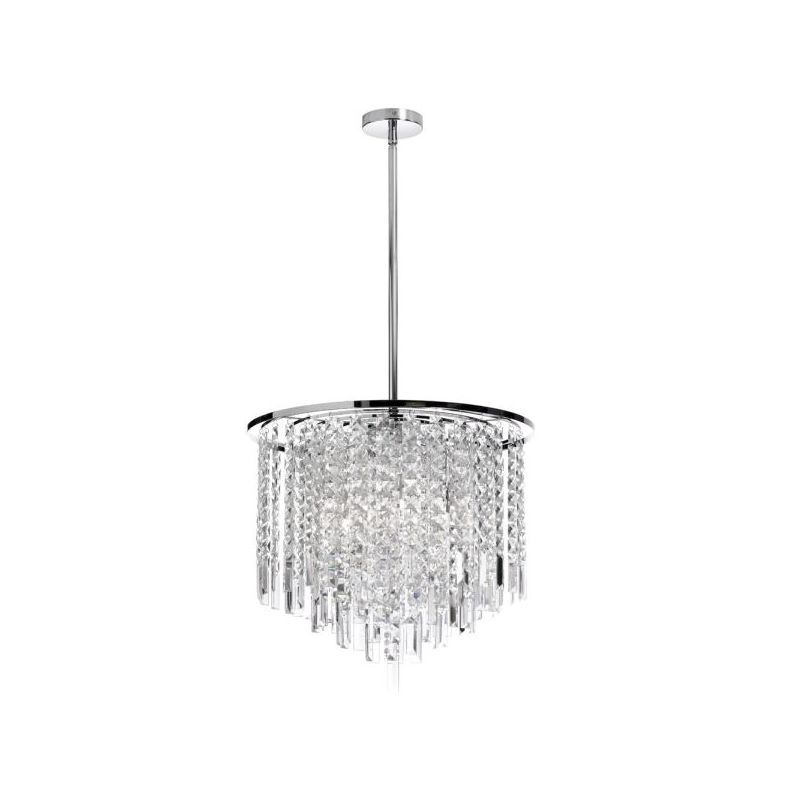 Dainolite CUB-208C-PC Cubix 8 Light Chandelier Polished Chrome Indoor