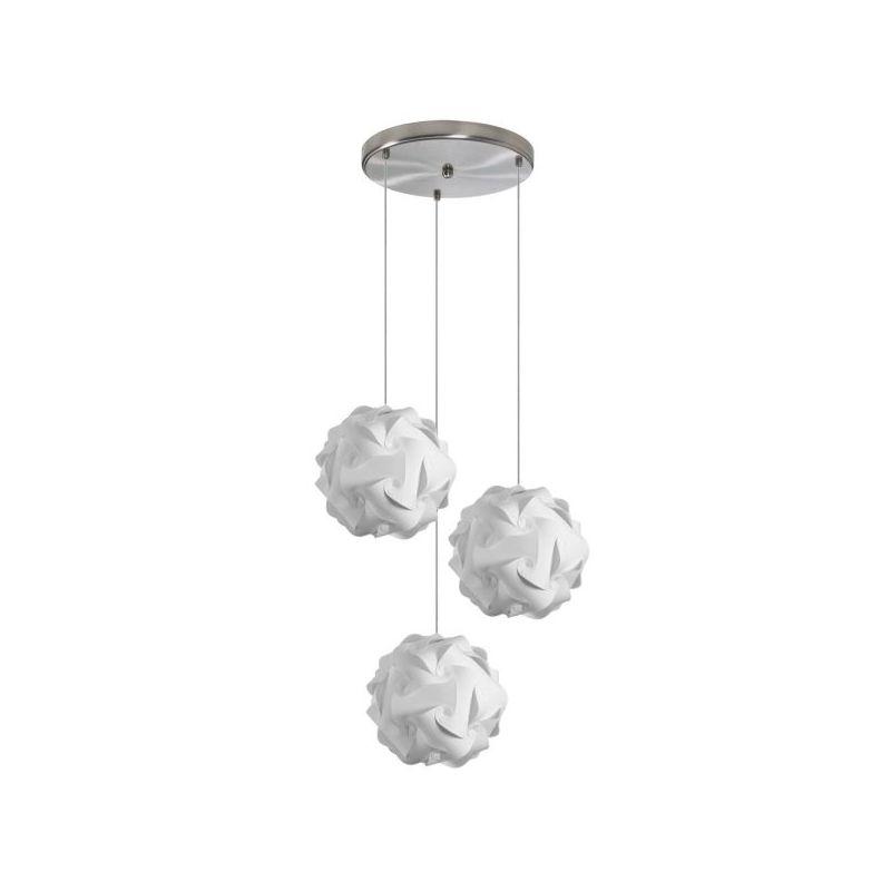 Dainolite DBL-3SR-790 Daino Ball 3 Light Multi Light Pendant White