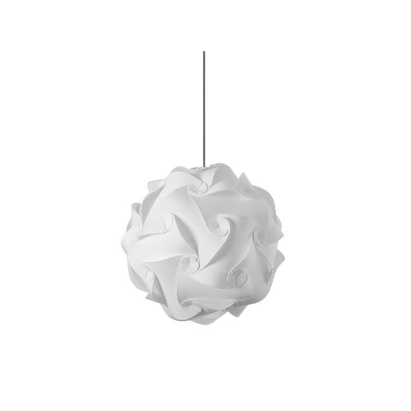 Dainolite DBL-M-790 Daino Ball 1 Light Pendant White Indoor Lighting
