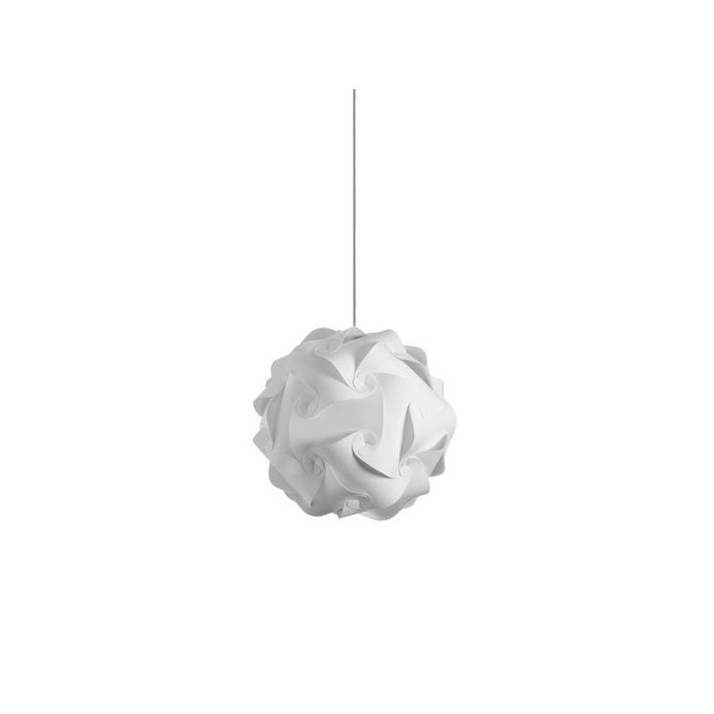 Dainolite DBL-S-790 Daino Ball 1 Light Pendant White Indoor Lighting