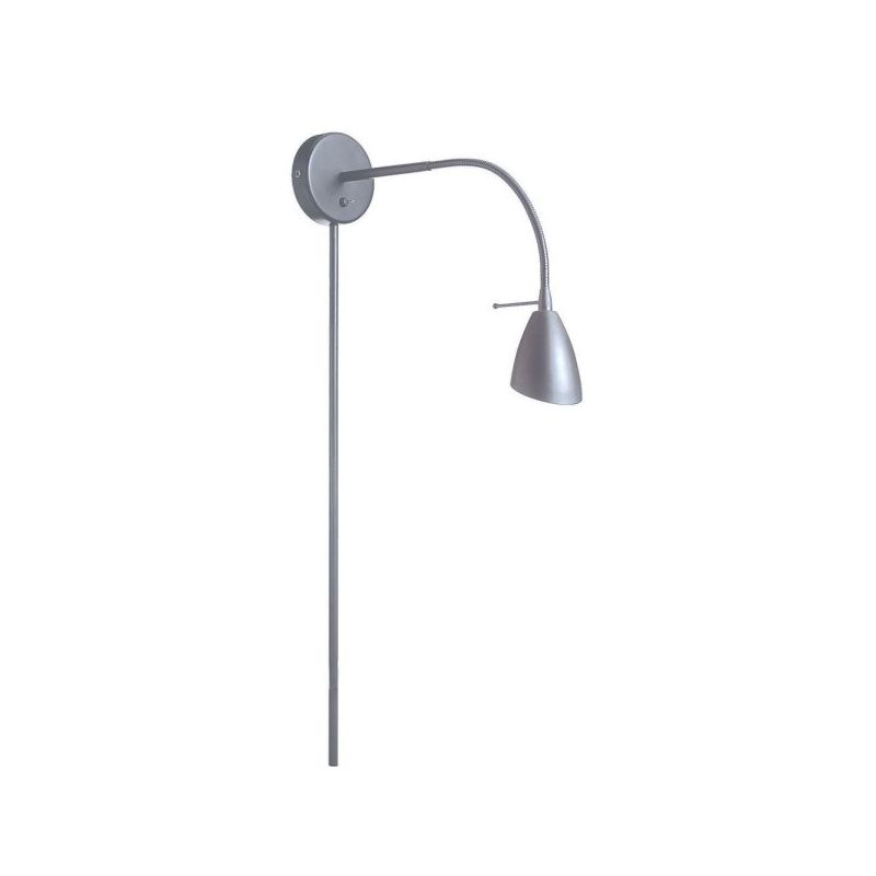 Dainolite DGUW224-SC 1 Light Swing Arm Wall Sconce Satin Chrome Indoor