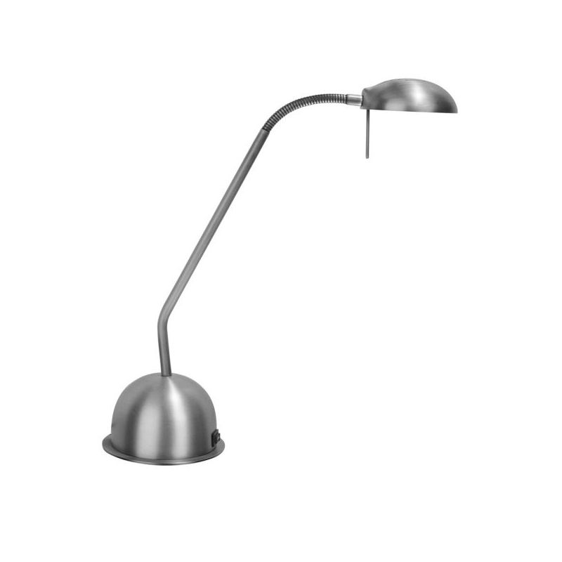 Dainolite DLHA730-SC 1 Light Desk Lamp Satin Chrome Lamps Gooseneck