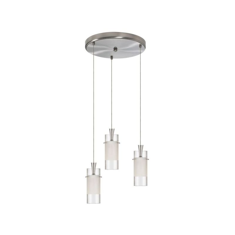 Dainolite DLSL221-12R-CF-SC Dinette 3 Light Pendant Satin Chrome