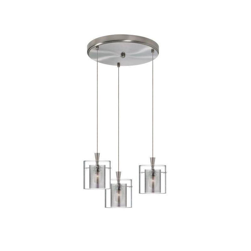 Dainolite DLSL309-12R-CM-SC Dinette 3 Light Pendant Chrome / Satin