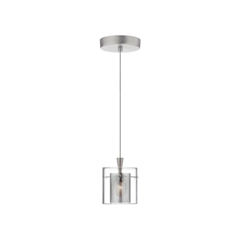 Dainolite DLSL309-CM-SC Dinette 1 Light Mini Pendant Chrome / Satin