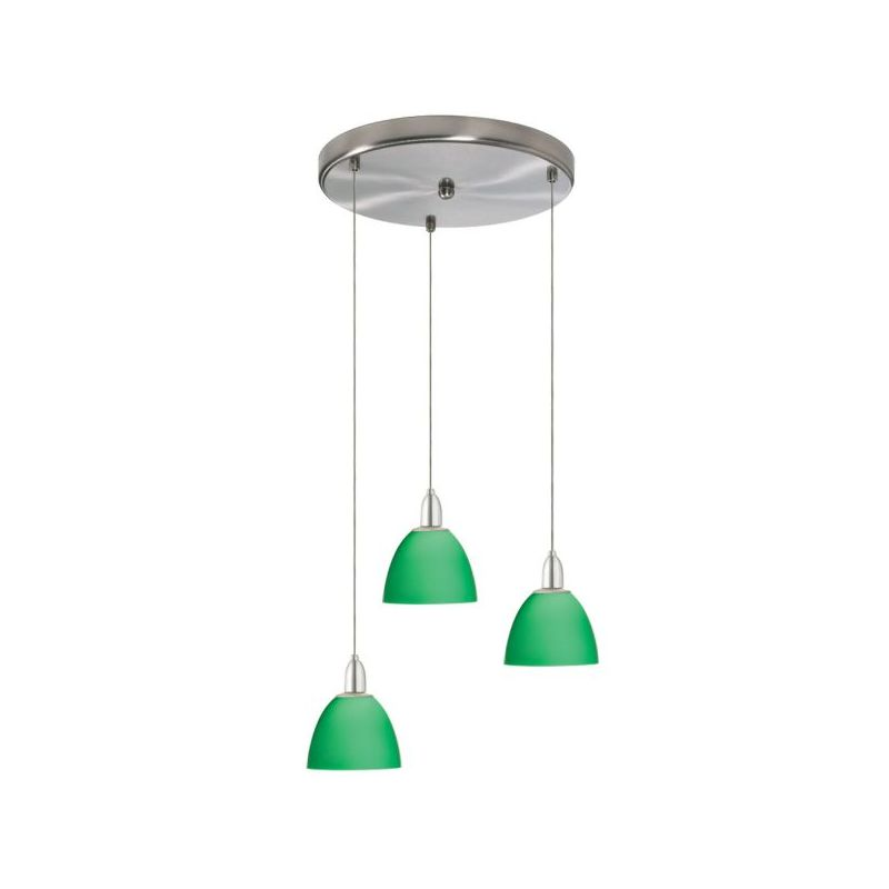 Dainolite DLSL701-12R-GR-SC 3 Light Pendant Satin Chrome Indoor