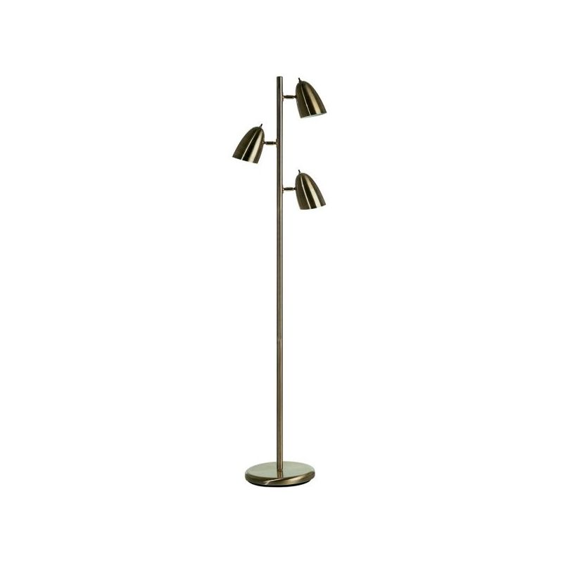 Dainolite DM330F-AB 3 Light Floor Lamp Antique Brass Lamps Tree Lamps