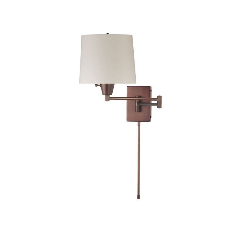 Dainolite DWL80DD-OBB 1 Light Swing Arm Wall Sconce Oil Brushed Bronze
