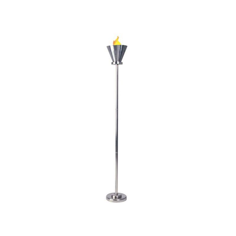 Dainolite FLAME-3-SC 1 Light Floor Lamp Satin Chrome Lamps Torchiere Sale $380.00 ITEM: bci2296000 ID#:FLAME-3-SC :