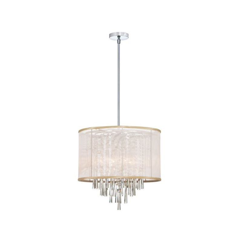 Dainolite JOS156-PC-117 Josephine 6 Light Chandelier Polished Chrome Sale $1148.00 ITEM: bci2296447 ID#:JOS156-PC-117 :