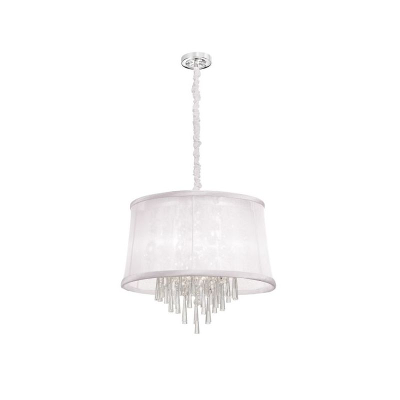 Dainolite JUL226-PC-119 Julia 6 Light Chandelier Polished Chrome