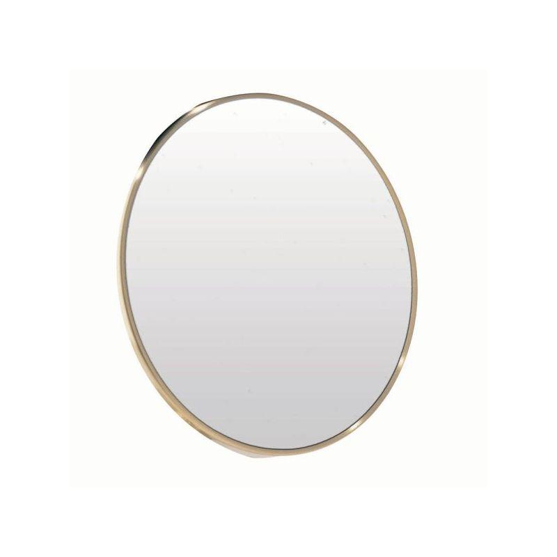 Dainolite MAGMIR-4W-SB Stick on Oval Mirror Satin Brass Home Decor