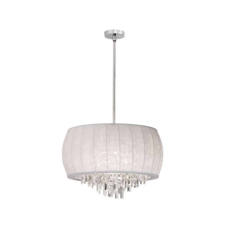 Dainolite MYA-22C-PC-900 Maya 6 Light Chandelier Polished Chrome