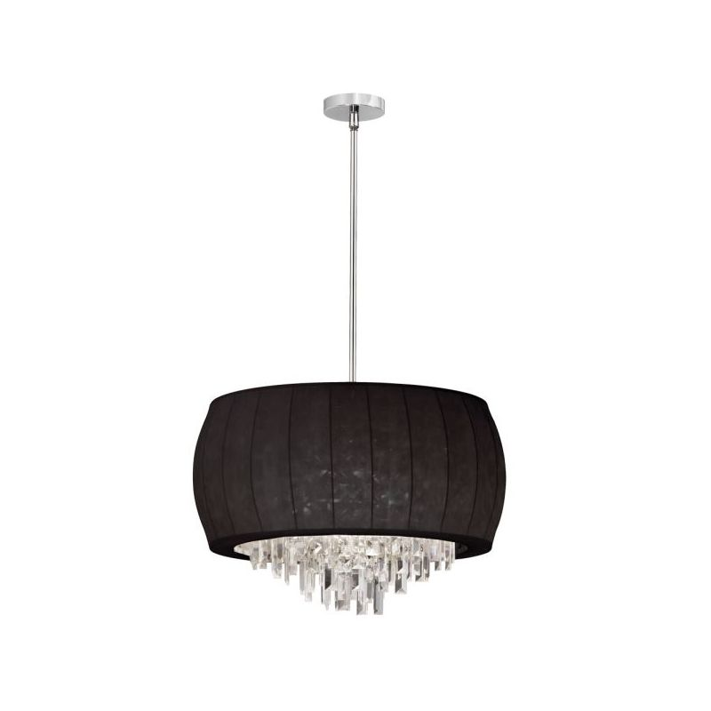 Dainolite MYA-22C-PC-901 Maya 6 Light Chandelier Polished Chrome