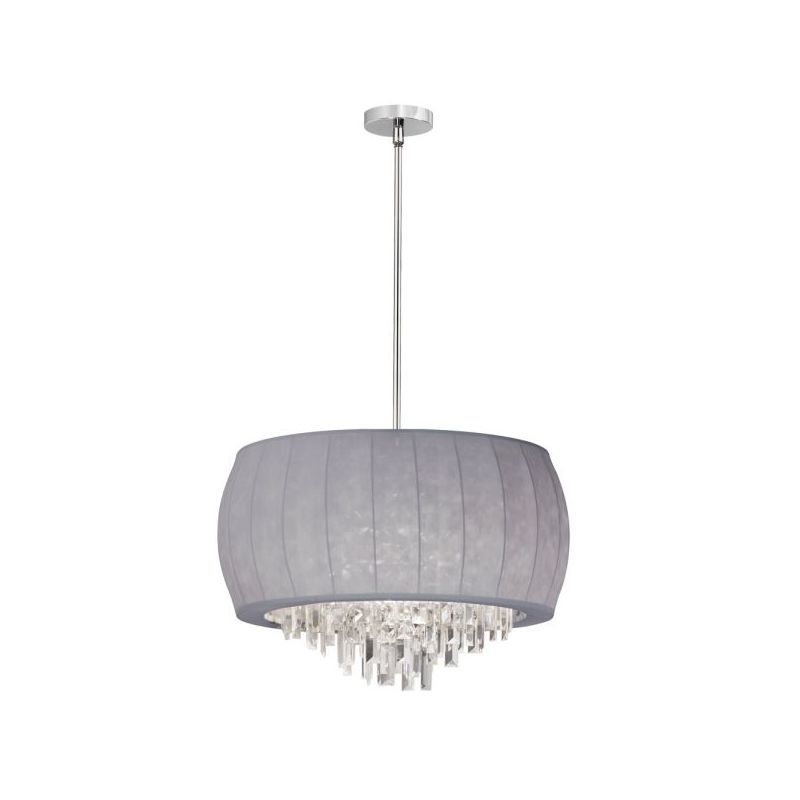 Dainolite MYA-22C-PC-923 Maya 6 Light Chandelier Polished Chrome