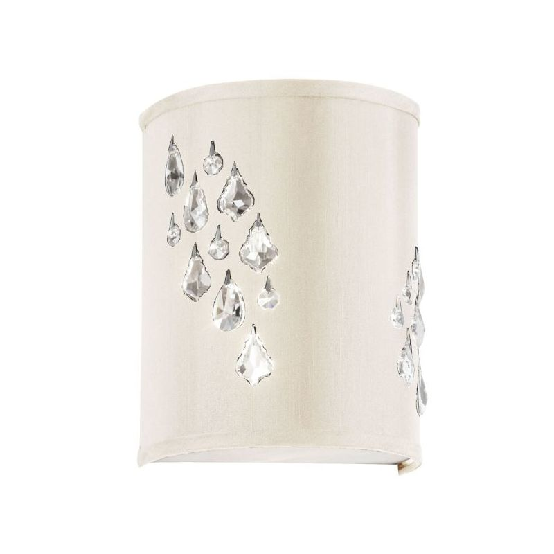 Dainolite RHI-8L-2W-695 Rhiannon 2 Light Wall Sconce Polished Chrome