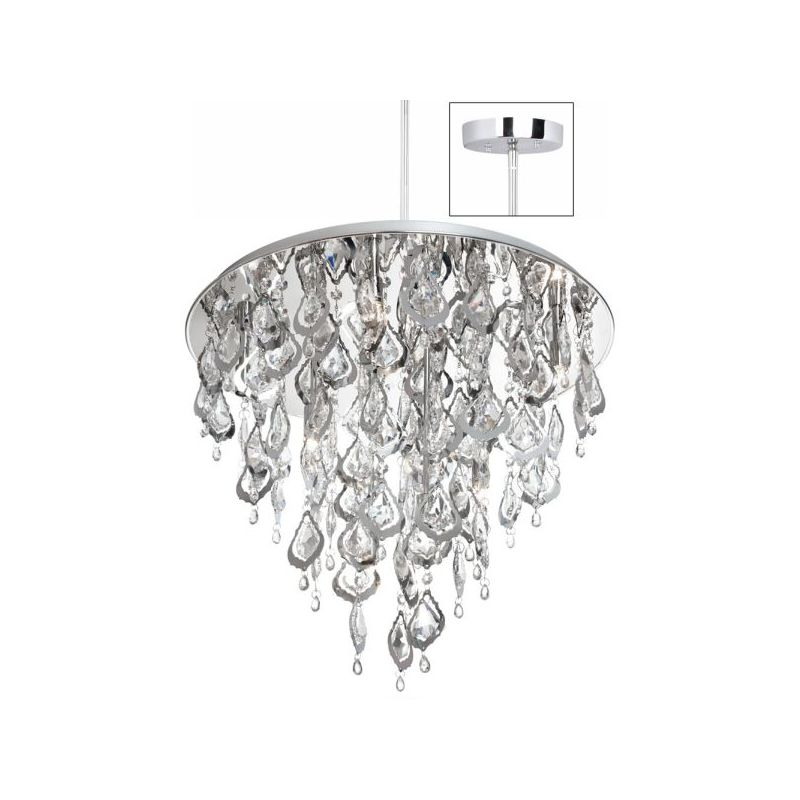 Dainolite SIL-2118C-PC Silhouette 8 Light Chandelier Polished Chrome