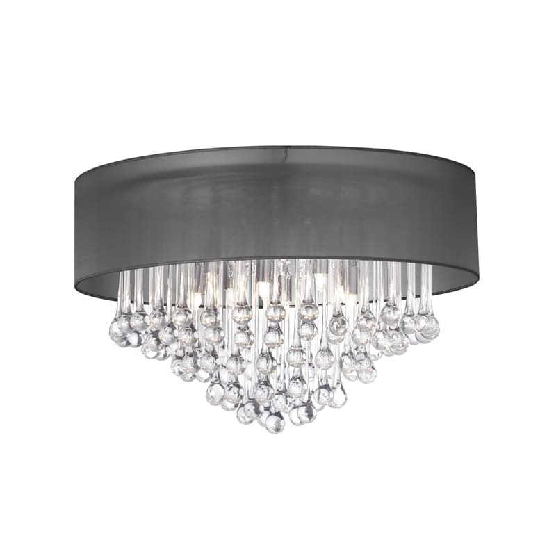 "Dainolite TAM-184FH Tamara 4 Light 17"" Wide Flush Mount Ceiling Sale $482.00 ITEM: bci2985269 ID#:TAM-184FH-BK UPC: 65214018418 :"