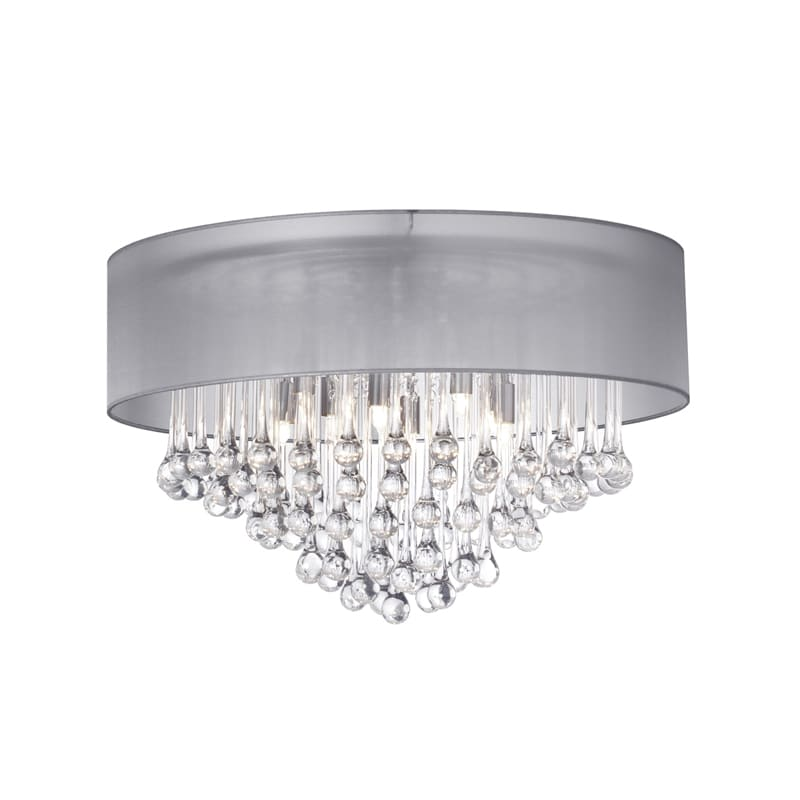 "Dainolite TAM-184FH Tamara 4 Light 17"" Wide Flush Mount Ceiling Sale $482.00 ITEM: bci2985271 ID#:TAM-184FH-SV UPC: 65214018432 :"