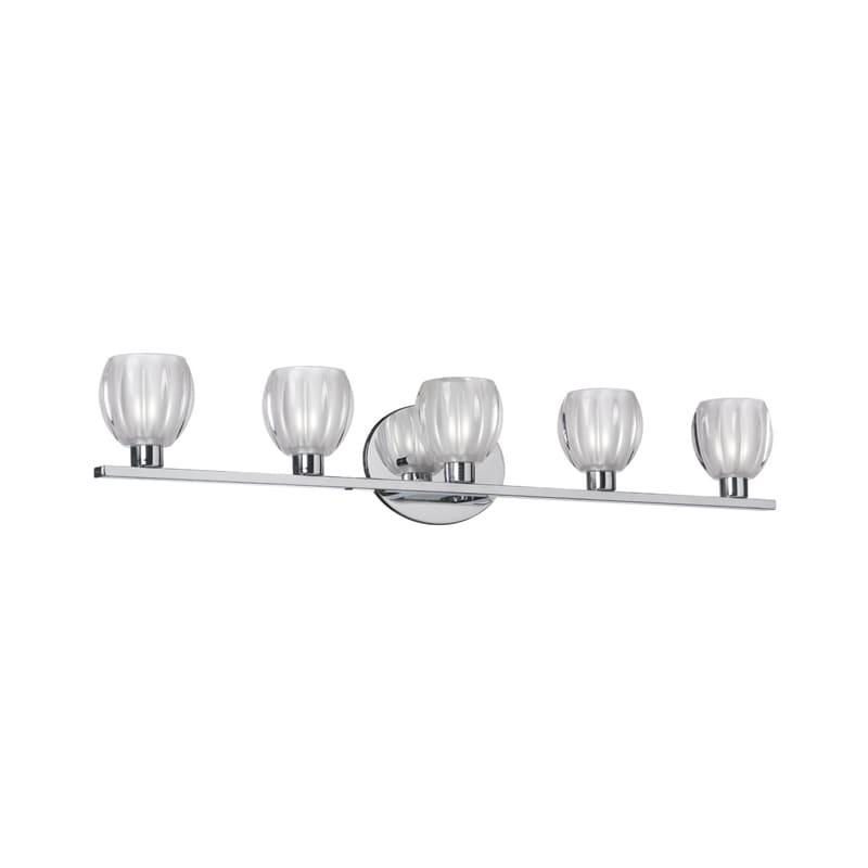 "Dainolite V281-5W 5 Light 30"" Wide Bathroom Vanity Light ADA Compliant Sale $366.00 ITEM: bci2985377 ID#:V281-5W-PC UPC: 65214281058 :"