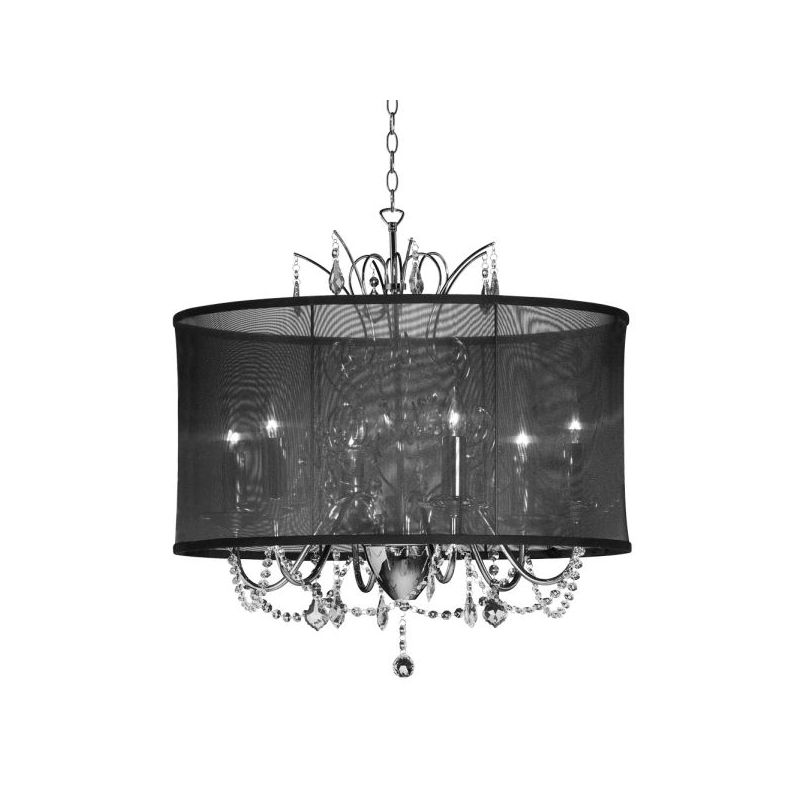 Dainolite VNA-20-5-115 Vanessa 5 Light Chandelier Polished Chrome
