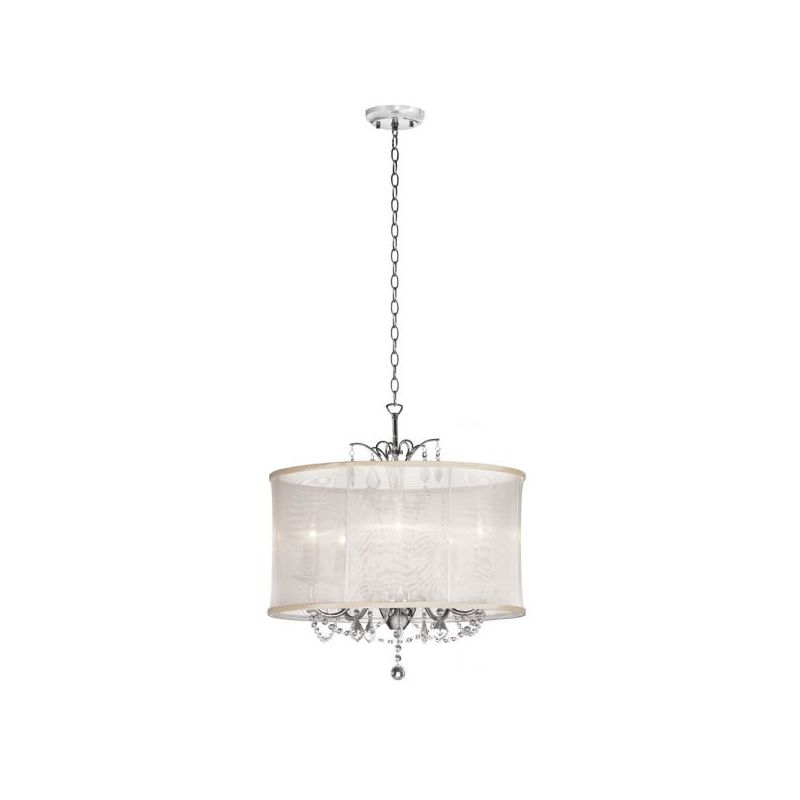 Dainolite VNA-20-5-117 Vanessa 5 Light Chandelier Polished Chrome