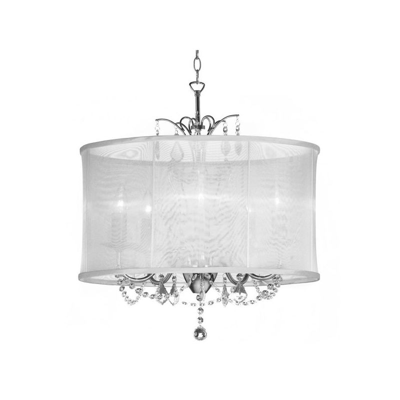 Dainolite VNA-20-5-119 Vanessa 5 Light Chandelier Polished Chrome