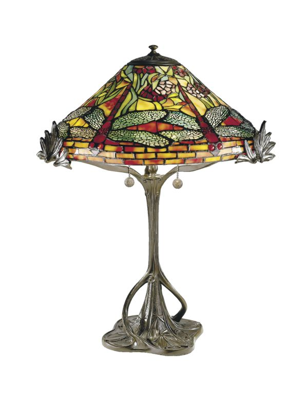 dale tiffany 0051 antique bronze victorian floral dragonfly table lamp. Black Bedroom Furniture Sets. Home Design Ideas
