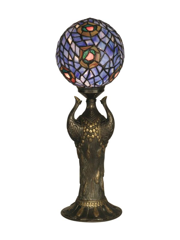 Dale Tiffany 0073 Victorian Peacock Specialty Globe Table Lamp with
