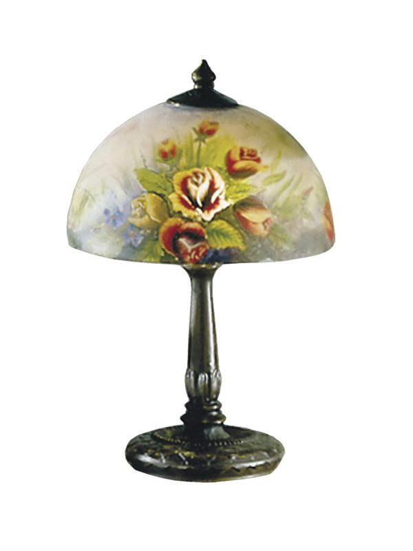 Dale Tiffany 10057/610 Victorian Rose Dome Table Lamp with Glass Shade