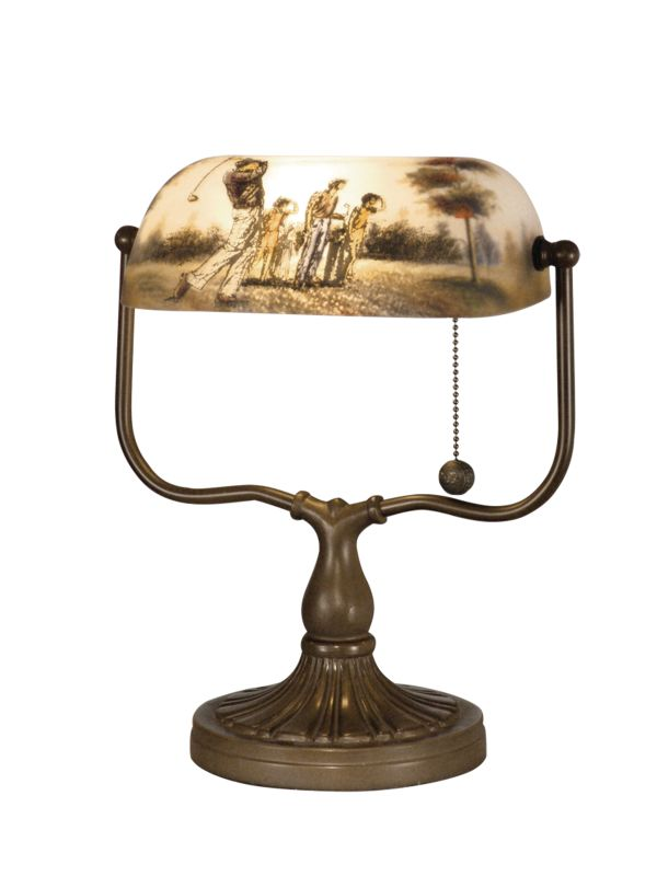 "Dale Tiffany 10164/417 17"" Golf Handale Table Lamp with 1 Light"