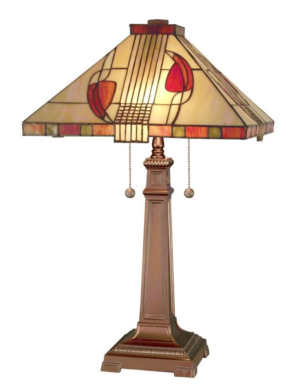 Dale Tiffany 2721/739 Henderson Tiffany Glass Table Lamp from the