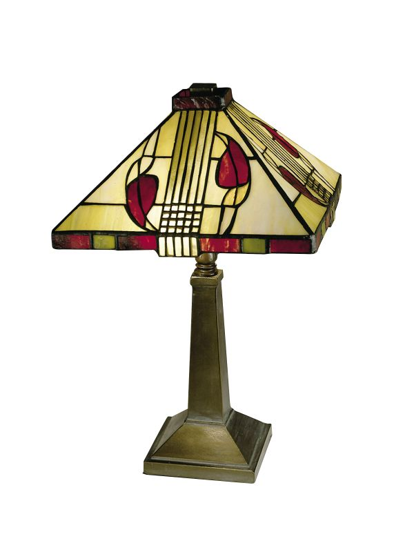 """Dale Tiffany 2724/797 15"""" Henderson Table Lamp with Candelabra Base"""