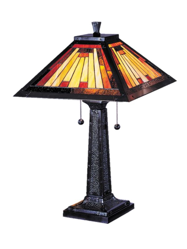 Dale Tiffany 7560/965 Mission Camelot Table Lamp from the Noir Mission