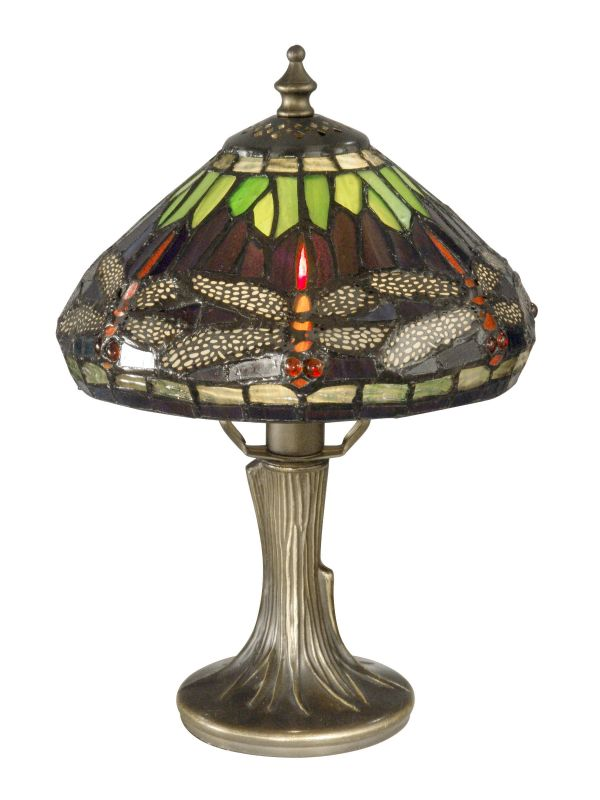 "Dale Tiffany 7601/521 11"" Dragonfly Table Lamp with Candelabra Base"