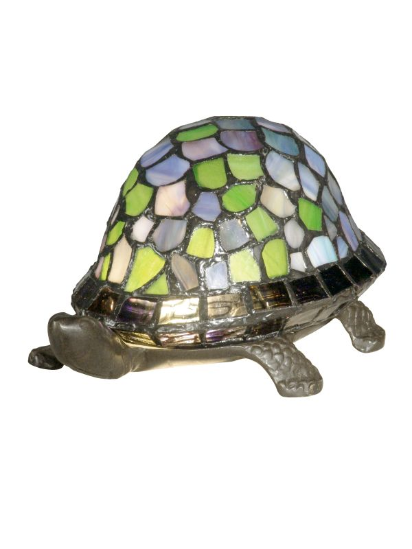 Dale Tiffany 7908/816A Blue Turtle Accent Lamp from the Accent
