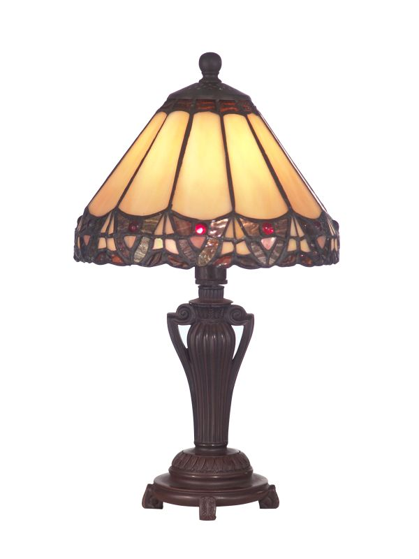 Dale Tiffany 8034/640 Peacock Accent Lamp from the Miniature