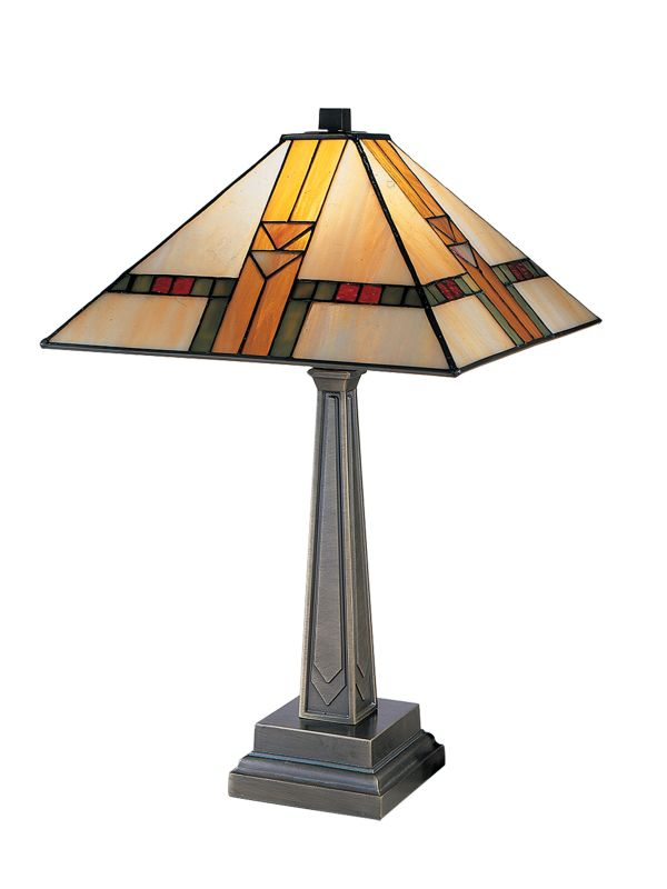 Dale Tiffany 8655/551 Mission Table Lamp Antique Brass Lamps