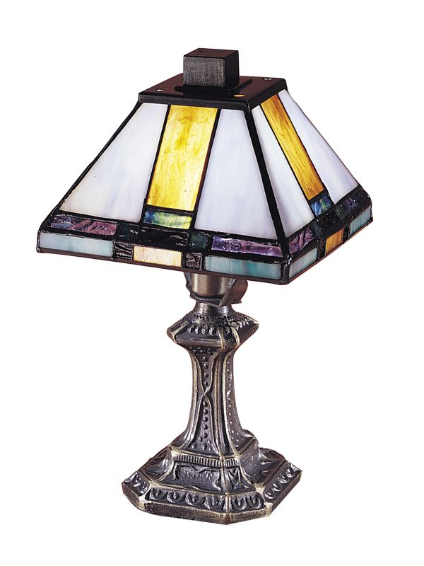 Dale Tiffany 8706 Tranquility Mission Mini Accent Lamp with Art Glass