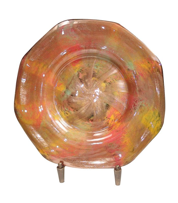 "Dale Tiffany AG500299 20"" Doheny Charger with Hand Blown Art Glass N/A"