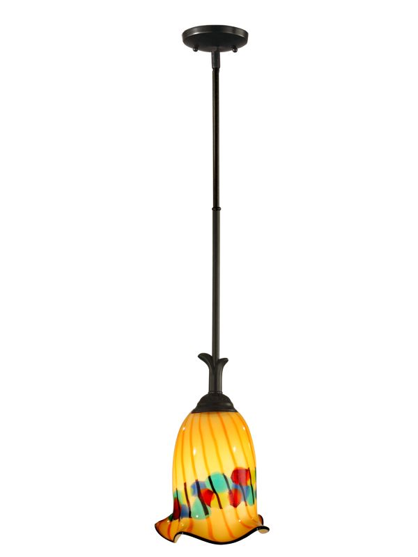 Dale Tiffany AH11248 Celebration 1 Light Mini Pendant Coffee Black