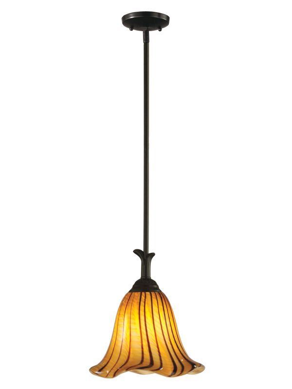Dale Tiffany AH12142 Valley Glen 1 Light Full Sized Pendant Coffee