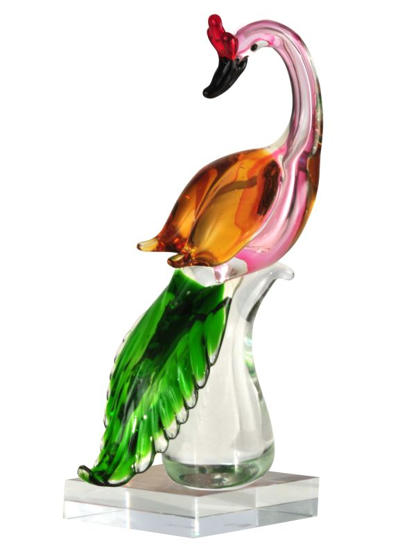 Dale Tiffany As13077 Multi Colored Glass Pink Flamingo 6